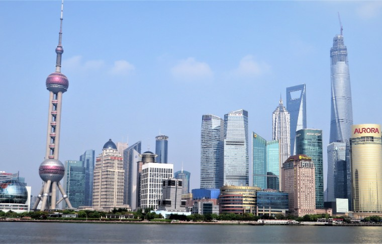 Shanghai skyline waterfront