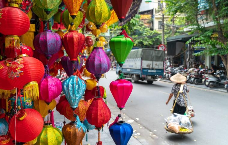 Paper Lanterns in Hanoi