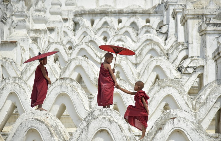 monk burma Novices in Myanmar