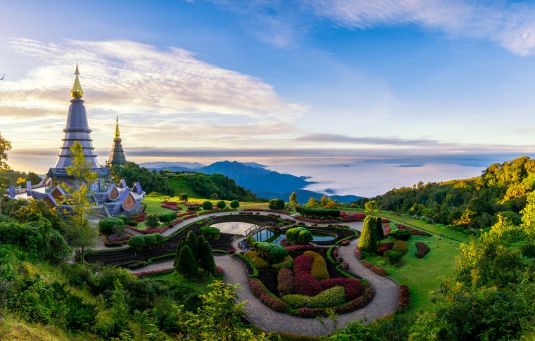 Inthanon mountain in doi Inthanon national park Chiang Mai