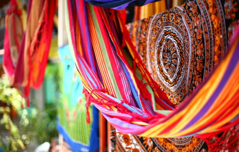 colourful hammock