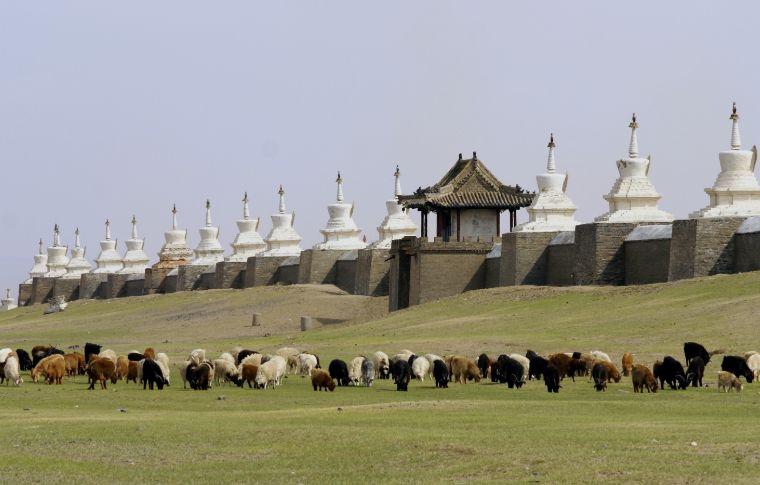 mongolia monastery walls